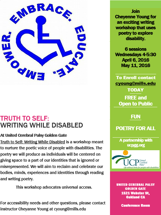 Poetry Workshop April 2016
